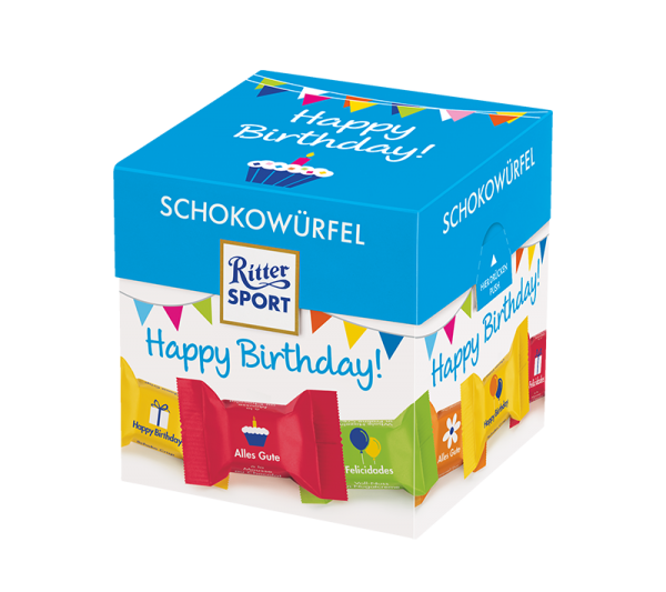 Schokowürfel Happy Birthday